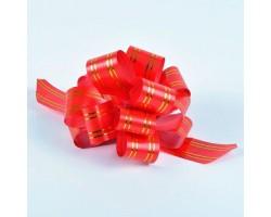 Бант шар 323/20 32мм с золотой полосой красный шт.