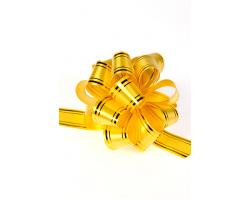 Бант шар 323/30 32мм с золотой полосой желтый шт.
