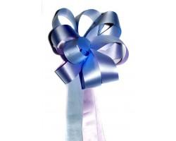 Бант цветок 31/23 двойной 3*150см голубой шт.