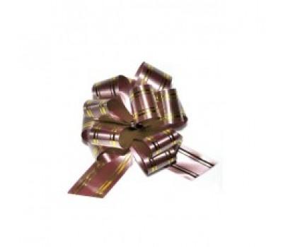 Бант шар 323/15 32мм с золотой полосой шоколадный шт.