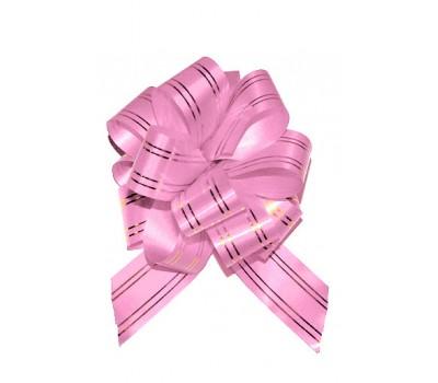 Бант шар 323/61 32мм с золотой полосой розовый шт.