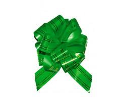 Бант шар 323/45 32мм с золотой полосой зеленый шт.