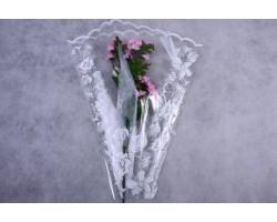 Конус Елена цвет/рис 50*60см (упак.50шт) белый