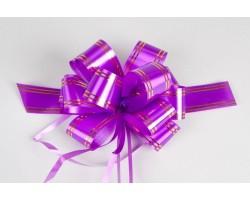 Бант шар с золотой полосой 32 фиолетовый шт.