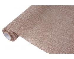 Лен искусственный 47см*4,5м натуральный коричневый арт.64349
