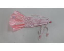 Чехол для портбукетницы атласный розовый арт.КП08