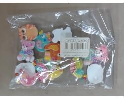 Ассорти глянцевый пластик птички+совята+мишки+уточки (упак.14шт)