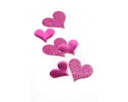 Наклейки спанч 601-20 набор сердец ассорти 10*5см