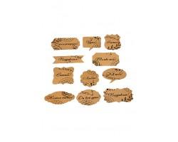 Аксессуар для декора 22/10-03 набор из 24 wishcard крафт с пожеланиями 5-9см