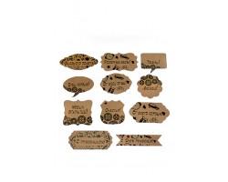 Аксессуар для декора 22/10-02 набор из 24 wishcard крафт с мужскими пожеланиями 5-9см