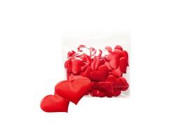 Набор сердечек блестящих 4,0см (упак.50шт) красный арт.1049/2-4/RD