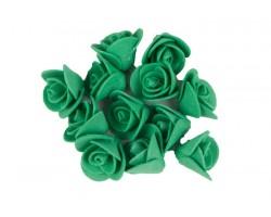 Декор для творчества Роза 1,5см (упак.12шт) темно-зеленый