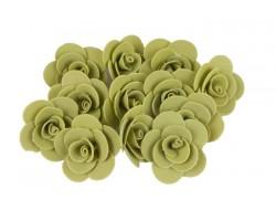 Декор для творчества Роза 2,5см (упак.12шт) оливковый