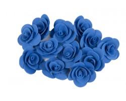Декор для творчества Роза 2,5см (упак.12шт) темно-синий