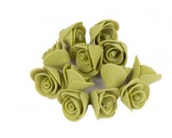 Декор для творчества Роза 1,5см (упак.12шт) оливковый