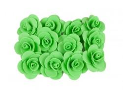 Декор для творчества Роза 2,5см (упак.12шт) салатовый