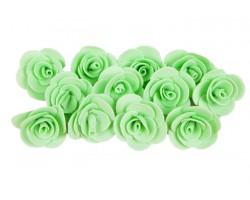 Декор для творчества Роза 2,5см (упак.12шт) мятный