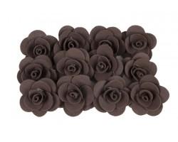 Декор для творчества Роза 2,5см (упак.12шт) коричневый