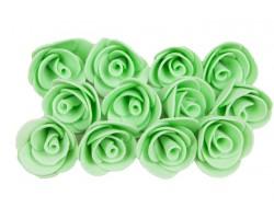 Декор для творчества Роза 1,5см (упак.12шт) мятный