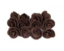 Декор для творчества Роза 1,5см (упак.12шт) коричневый