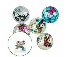 Медальоны из стекла Махаон 30мм (упак.5шт)