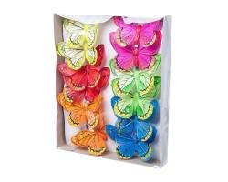 Набор бабочек на клипе 10см (12шт) арт.1811-12/10cm