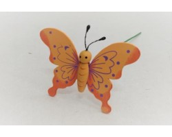 Бабочка на вставке 6*8*H21см оранжевый