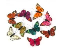 Бабочки Бали на прищепке 10,5см (упак.9шт) арт.16226