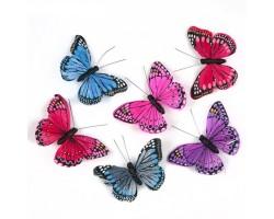 Бабочки Остров сокровищ на прищепке 9,5см (упак.6шт) арт.16228