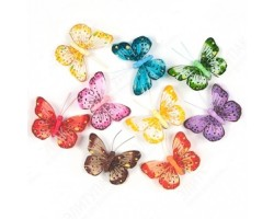 Бабочки Восточные красавицы на прищепке 9см (упак.9шт) арт.16234