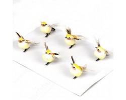 Птички-пташки на прищепке 6см (упак.6шт) арт.16302