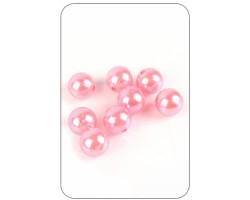 Бусины 200/20-20 перламутр розовые 20мм 70гр