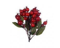 Ягоды декоративные красные 22*15см арт.0599-30