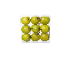 Набор яблок на проволоке 5см (9шт) зеленый
