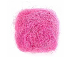 Волокно сизаля 40гр розовый