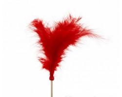 Перья на вставке 14*50см красный 5500011528850
