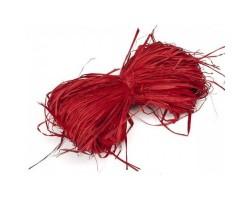 Рафия натуральная 102-20 12-15гр красный