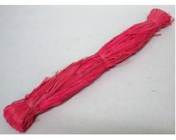 Рафия натуральная 100гр красная