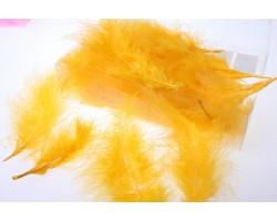 Перья марабу 12-15см 10гр желтый арт.9927