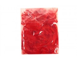 Перья цветные 9см красный