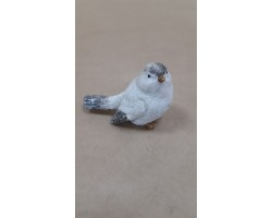 Сувенир Птичка Н8см белый арт.4883W