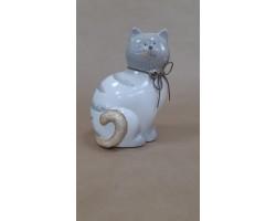 Сувенир Кошка 20см серый арт.591792
