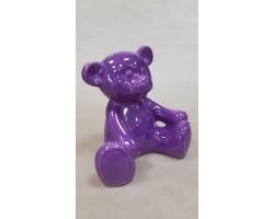 Медвежонок (керамика) 17*21*H22см сиреневый