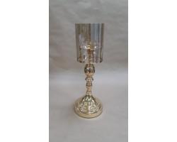 Подсвечник Сияние (металл/стекло) золото арт.YH6027ZA-2-1