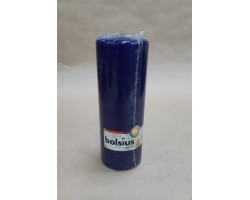 Свеча-столбик 20*7см 84 часа темно-голубой