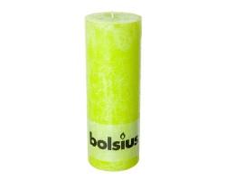 Свеча-столбик Рустик 19*6,8см 65 часов зеленый