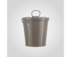 Кашпо-ведерко с крышкой (металл) 19*15*19см кофе с молоком арт.YJ16-689-1