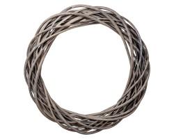 Венок декоративный (ива) D35см серый арт.LS1704325-35GR