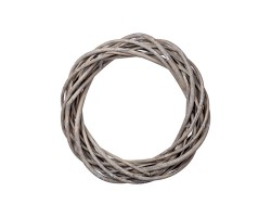 Венок декоративный (ива) D20см серый арт.LS1704325-20GR