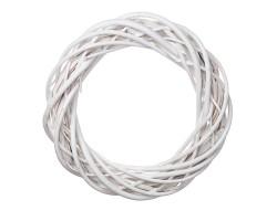 Венок декоративный (ива) D25см белый арт.LS1704325-25WT